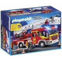 Playmobil 5362 Camion Bomberos Escalera Rescate Retromex