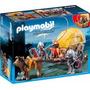 Playmobil 6005 Caballeros Halcon Y Carreta Medieval Retromex