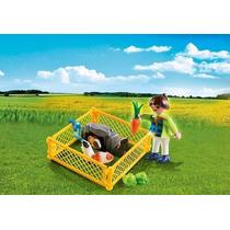 Playmobil 4794 Especial Niña Con Cobayas Ciudad Retromex