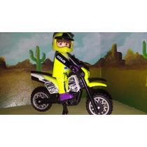 Playmobil Moto Amarilla De Carreras Motocross Rally Safari
