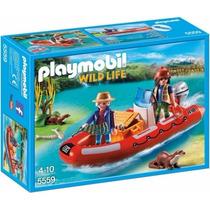 Playmobil 5559 Lancha D Exploradores Vida Salvaje Retromex