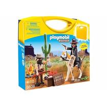 Playmobil 5608 Maletin Vaqueros Del Oeste Retromex