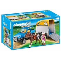 Playmobil Suv With Horse Trailer Playset Modelo 5223