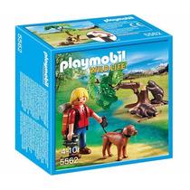 Playmobil 5562 Explorador Con Castores Zoo Retromex