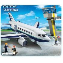 Playmobil 5261 Avion De Pasajeros Y Mercancia !!! Gzt