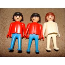Lote De Play Mobil De 3 Muñecos De 1974, Son De Los Que No