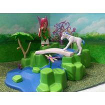 Playmobil Hada Con Cascada Y Unicornio Bebe Magic Js
