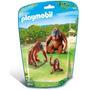Playmobil 6648 Animales Zoo Orangutan Con Cria Bebe Safari