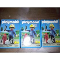 Playmobil 3339 Bombero Con Equipo Contra Incendio De 1991 Js