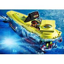 Playmobil 4909 Submarino Con Motor Ciudad Acuatico Retromex