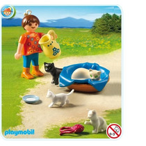Playmobil 5126 Familia D Gatos Y Niña Ciudad Granja Retromex