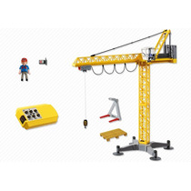 Playmobil 5466 Grua De Rc Pluma Construccion Retromex