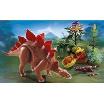 Playmobil 5232 Estegosaurio Con Crias Dinosaurios Retromex