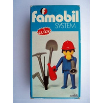 Playmobil Set 3366 Bombero Con Equipo De 1985 Js!!!