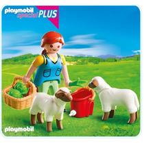 Playmobil 4765 Especial Plus Mujer Y Ovejas Granja Retromex¡