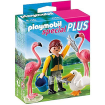 Playmobil 4758 Cuidador De Zoo Con Pájaros Exóticos