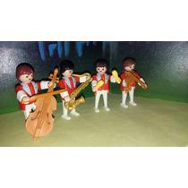 Playmobil Musicos Con Instrumentos Banda De Musica Circo Js