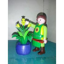 Playmobil Jardinera Agricultora Podadora Con Maceta Ciudad