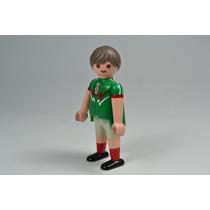 Playmobil Custom Jugador Futbol Mexico Deporte Retromex