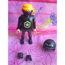 Playmobil Policia Guero Con Mascara Antigas
