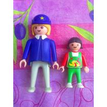 Playmobil Set De Figuras Policia Y Nina