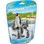 Playmobil 6649 Animales Zoo Pinguinos Con Crias Bebe Safari