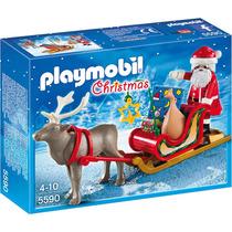 Playmobil Set 5590 Santa Claus Con Trineo Y Venado Navidad