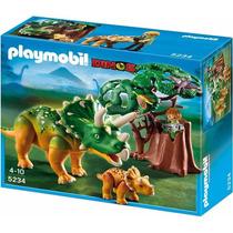 Playmobil 5234 Triceratops Con Cria Dinosaurios Retromex