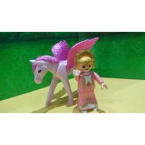 Playmobil Princesa Niña Con Pegaso Bebe O Cria Magic Js
