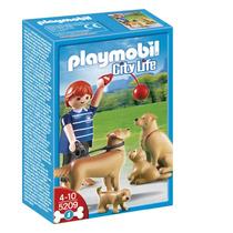 Playmobil 5209 Golden Retrievers Y Cachorro Ciudad Retromex