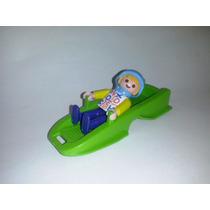 Playmobil Niño Con Trineo De Nieve Verde Ciudad Familia Js