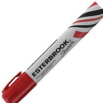 Marcador Permanente Esterbrook Rojo O Negro Caja 12 Piezas