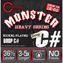 Cleartone Monster Drop C# 12-60 Cuerdas Guitarra Heavy Metal