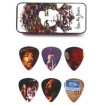 Lata Con 6 Plumillas Dunlop Jimi Hendrix Hear My Music
