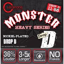 Cleartone Monster Drop D 11-56 Cuerdas Guitarra Dhl Gratis