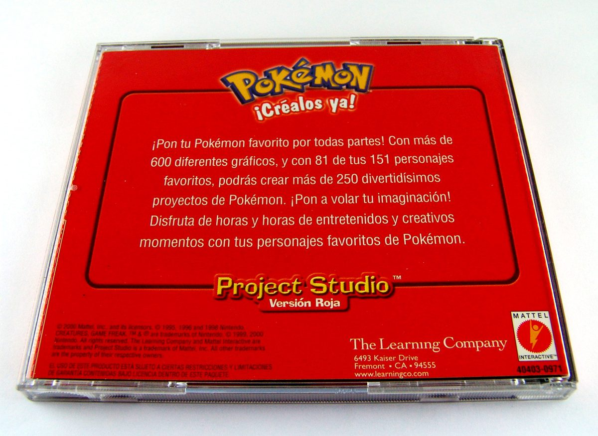 Mlm 549714775 Pokemon Project Studio Version Roja Mattel Inc 2000 Jm