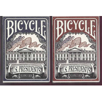 2 Mazos De Cartas De Coleccion Bicycle Presidents Ed Limitad