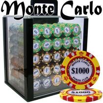 Poker Estuche Acrylico 1000 Fichas Casino Monte Carlo 14 Grs