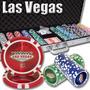 Poker Estuche 500 Fichas Casino 14 Grams Mod Las Vegas Laser