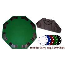Mesa Para Juego De Poker Fichas Baraja Bolsa Transporte Hm4