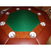 Mesa De Poker Octagonal Con Paño Profesional
