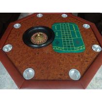 Mesa De Poker, Ruleta, Ajedrez, Black Jack Y Backgammon.