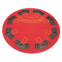 Elegante Base De Mesa Para Poker Redonda Color Rojo