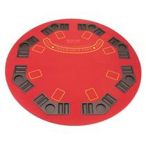 Elegante Base De Mesa Para Poker Redonda Color Rojo