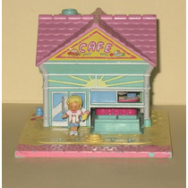 Polly Pocket 1993 Beach Cafe Con Muñequita Original Del Set