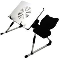 Mesa Portatil Plegable Laptop Ventilador Enfriador Mousepad