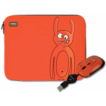 Kit Funda Y Mouse Usb Naranja Perfect Choice P/netbook 10pul