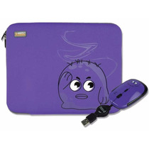 Kit Funda Y Mouse Usb Morado Perfect Choice P/netbook 10pulg