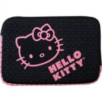 Funda De Neopreno Hello Kitty De 15.4 Negro Sanrio Op4