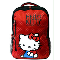 Mochila Backpack Hello Kitty 43cm Porta Laptop Importada E4f